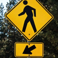 Pedestrian Crossing Sign - Child Safety